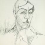 Pierre noire et fusain - H. 64 x L. 50 cm - Atelier de l'artiste